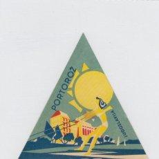 Etiquetas antiguas: ETIQUETA DEL HOTEL PALACE. PORTOROZ, YUGOSLAVIA.. Lote 191091582