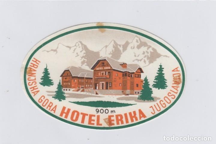 ETIQUETA DEL HOTEL ERIKA. KRANJSKA GORA, YUGOSLAVIA. (Coleccionismo - Etiquetas)