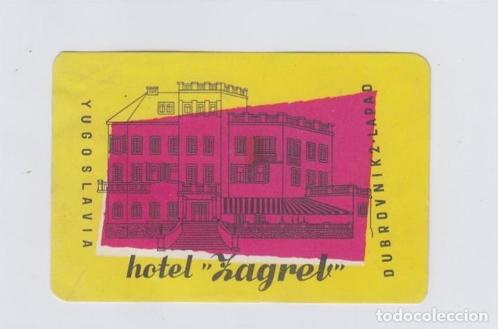 ETIQUETA DEL HOTEL ZAGREB. DUBROVNIK, YUGOSLAVIA. (Coleccionismo - Etiquetas)