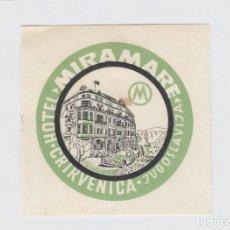 Etiquetas antiguas: ETIQUETA DEL HOTEL MIRAMARE. CRIKVENICA, YUGOSLAVIA.. Lote 191093998
