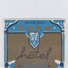Etiquetas antiguas: ETIQUETA DEL HOTEL BOKA. HERCEG-NOVI, YUGOSLAVIA.. Lote 191094955
