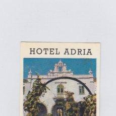 Etiquetas antiguas: ETIQUETA DEL HOTEL ADRIA. ANKARAN, YUGOSLAVIA.. Lote 191095506