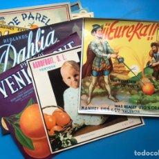Etiquetas antiguas: COLECCIÓN DE 23 ANTIGUAS ETIQUETAS DIFERENTES DE NARANJAS AÑOS 1930-1950 - VER FOTOS ADICIONALES. Lote 191883976