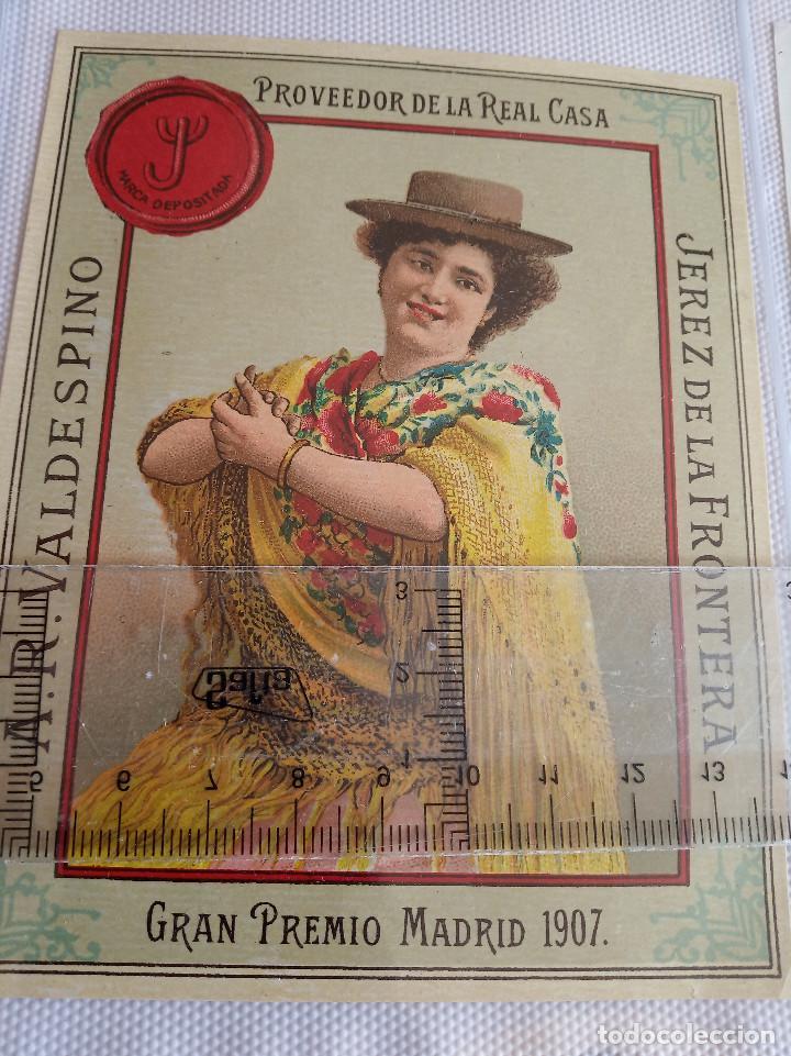 ETIQUETA - A.R.VALDESPINO - GRAN PREMIO MADRID 1907 JEREZ DE LA FRONTERA PROVEEDOR DE LA REAL CASA (Coleccionismo - Etiquetas)