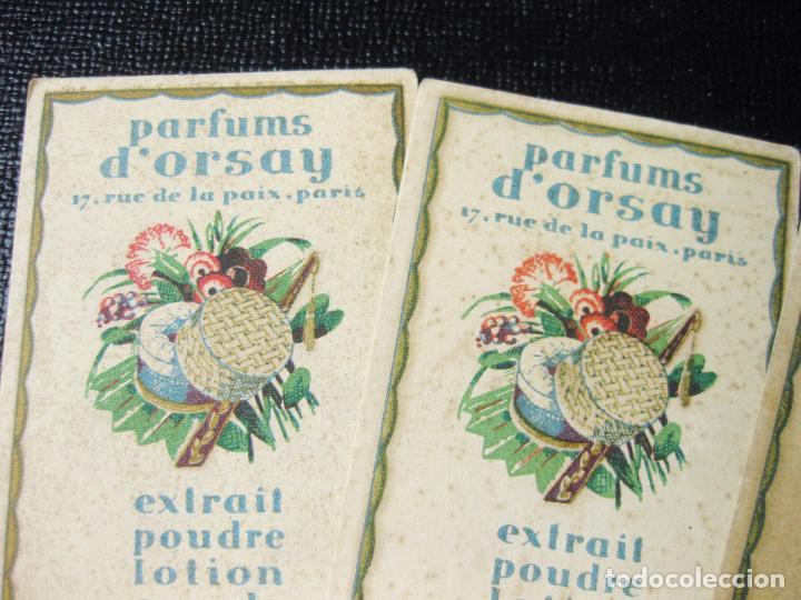 Etiquetas antiguas: 4 ETIQUETAS PUBLICITARIAS PERFUMADAS DE PERFUMES. PARFUMS DORSAY. - Foto 2 - 194219000