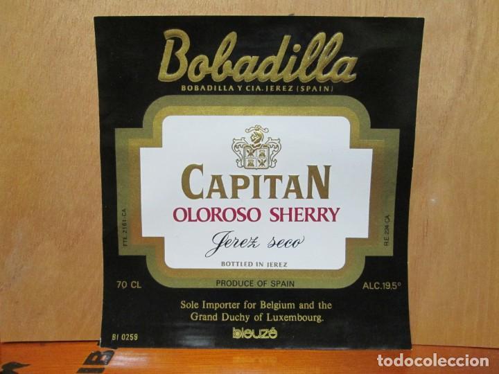 ANTIGUA ETIQUETA, CAPITAN OLOROSO SHERRY JEREZ SECO DE BOBADILLA. (Coleccionismo - Etiquetas)