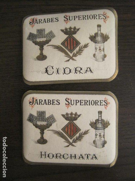 Etiquetas antiguas: 2 ETIQUETAS ANTIGUAS-HORCHATA-CIDRA-JARABES SUPERIORES-VER FOTOS-(V-19.048) - Foto 2 - 194316138