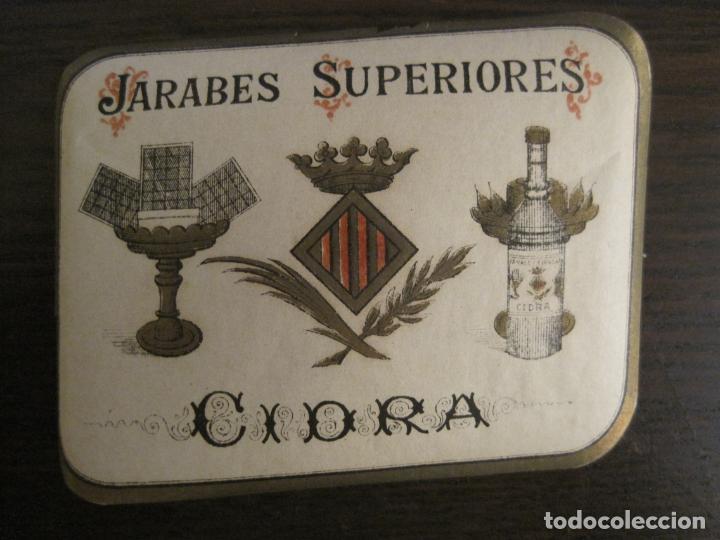 Etiquetas antiguas: 2 ETIQUETAS ANTIGUAS-HORCHATA-CIDRA-JARABES SUPERIORES-VER FOTOS-(V-19.048) - Foto 3 - 194316138