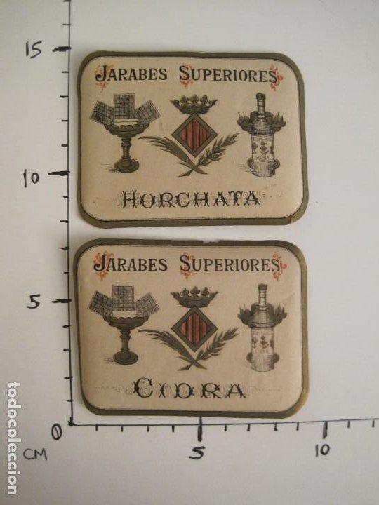 Etiquetas antiguas: 2 ETIQUETAS ANTIGUAS-HORCHATA-CIDRA-JARABES SUPERIORES-VER FOTOS-(V-19.048) - Foto 7 - 194316138
