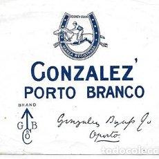 Etiquetas antiguas: ETIQUETA DE VINO (JOCKEY-CLUB) GONZALEZ' PORTO BRANCO - GONZALEZ BYASS - ET-1705. Lote 194378061