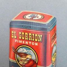 Etiquetas antiguas: PEQUEÑA ETIQUETA EL GORRION PIMENTON, ENRIQUE FUSTER, ESPINARDO, MURCIA 5,5X7CM APROX. Lote 194401317