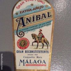Etiquetas antiguas: GRAN VINO PURO ANÍBAL MALAGA. Lote 194401910