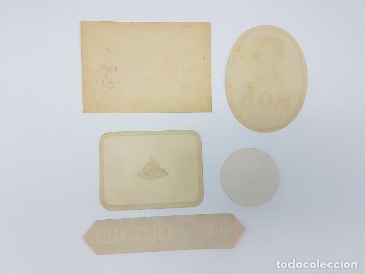 Etiquetas antiguas: LOTE 5 ETIQUETAS, DESTILERIAS MONFORT ( BARCELONA ) SIN USO - Foto 5 - 194502948