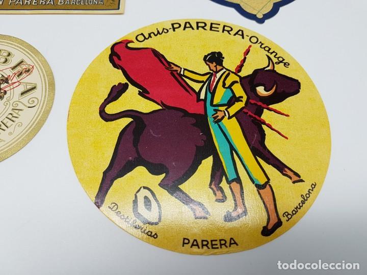 Etiquetas antiguas: LOTE 4 ETIQUETAS DESTILERIAS PARERA ( BARCELONA ) SIN USO - Foto 2 - 194503845