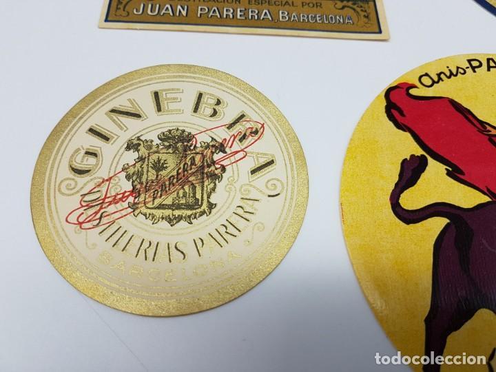 Etiquetas antiguas: LOTE 4 ETIQUETAS DESTILERIAS PARERA ( BARCELONA ) SIN USO - Foto 3 - 194503845