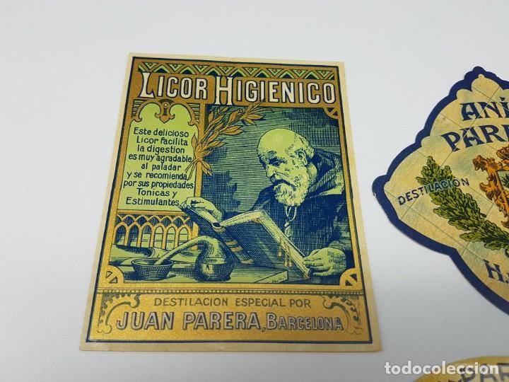Etiquetas antiguas: LOTE 4 ETIQUETAS DESTILERIAS PARERA ( BARCELONA ) SIN USO - Foto 4 - 194503845