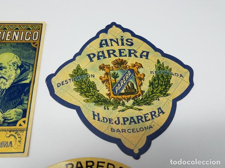 Etiquetas antiguas: LOTE 4 ETIQUETAS DESTILERIAS PARERA ( BARCELONA ) SIN USO - Foto 5 - 194503845