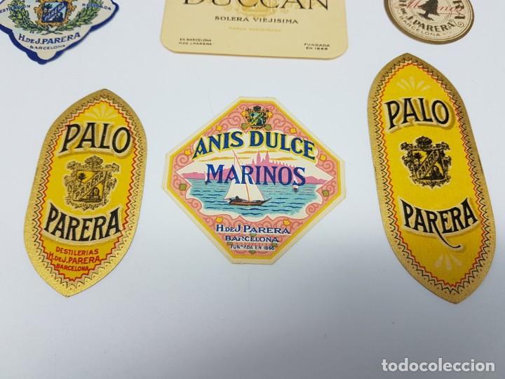 Etiquetas antiguas: LOTE 6 ETIQUETAS DESTILERIAS PARERA ( BARCELONA ) SIN USO - Foto 2 - 194505387