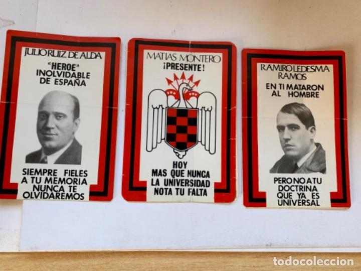 TRES PEGATINAS HÉROES DE LA FALANGE (Coleccionismo - Etiquetas)