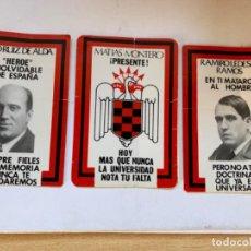 Etiquetas antiguas: TRES PEGATINAS HÉROES DE LA FALANGE. Lote 194581287