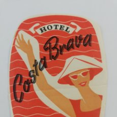 Etiquetas antiguas: ANTIGUA ETIQUETA HOTEL COSTA BRAVA PORT-BOU GIRONA LUGGAGE LABEL.. Lote 194688282