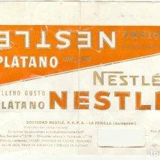 Etiquetas antiguas: ANTIGUA ETIQUETA CHOCOLATE NESTLE PLATANO.RAREZA.AÑOS 60.. Lote 194688430