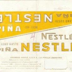 Etiquetas antiguas: ANTIGUA ETIQUETA CHOCOLATE NESTLE PIÑA.RAREZA.AÑOS 60.. Lote 194688490