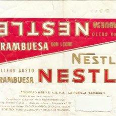 Etiquetas antiguas: ANTIGUA ETIQUETA CHOCOLATE NESTLE FRAMBUESA.RAREZA.AÑOS 60.. Lote 194688531