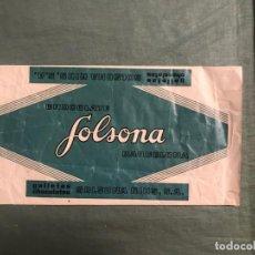 Etiquetas antiguas: ETIQUETA ENVOLTORIO - CHOCOLATE A LA TAZA SOLSONA RIUS. Lote 194715575