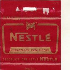 Etiquetas antiguas: ANTIGUA ETIQUETA CHOCOLATE CON LECHE NESTLE.AÑOS 60.. Lote 194719647