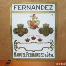 Etiquetas antiguas: ANTIGUA ETIQUETA, FERNANDEZ MANUEL FERNANDEZ Y CIA. Lote 194947393