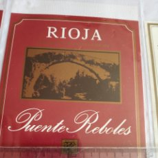 Etiquetas antiguas: ETIQUETA DE VINO - PUENTE REBOLES - RIOJA - EMBOTELLADO POR BODEGAS ANTIGUA USANZA S.A.. Lote 194992457