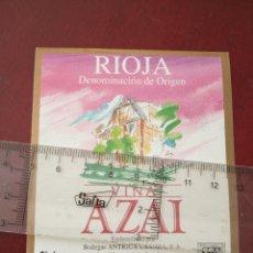 Etiquetas antiguas: ETIQUETA DE VINO - VIÑA ALZAI - RIOJA - ROSADO JOVEN - EMBOTELLADO POR BODEGAS ANTIGUA USANZA S.A.. Lote 194995896