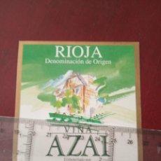 Etiquetas antiguas: ETIQUETA DE VINO - VIÑA ALZAI - RIOJA -BLANCO JOVEN - EMBOTELLADO POR BODEGAS ANTIGUA USANZA S.A.. Lote 194996007