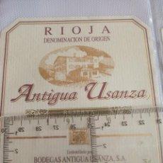 Etiquetas antiguas: ETIQUETA DE VINO - ANTIGUA USANZA - RIOJA - RESERVA 1980 - . Lote 194996446