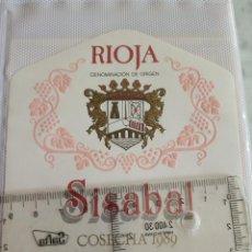 Etiquetas antiguas: ETIQUETA DE VINO - SISABAL - RIOJA - COSECHA 1989 - . Lote 194997772