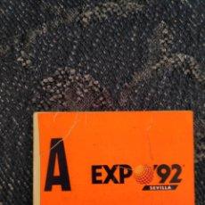 Etiquetas antiguas: SELLO PARKING EXPO 92 SIN USAR.. Lote 195081311