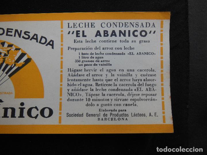 Etiquetas antiguas: Antigua Etiqueta en Plancha - Leche Condensada - El Abanico , años 40 . (Ver Fotos). - Foto 2 - 195309746