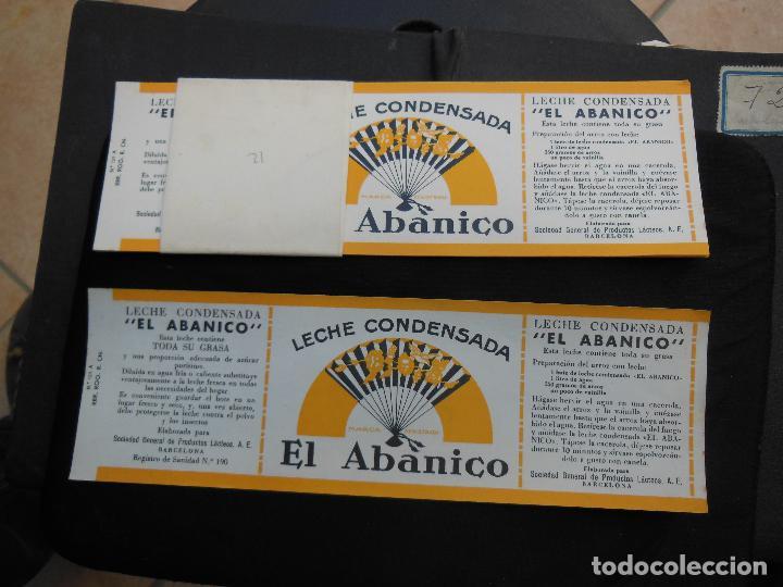 Etiquetas antiguas: Antigua Etiqueta en Plancha - Leche Condensada - El Abanico , años 40 . (Ver Fotos). - Foto 5 - 195309746