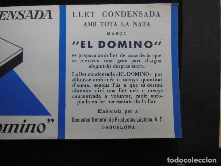 Etiquetas antiguas: Antigua Etiqueta en Plancha - Leche Condensada , El Domino , años 40 - (Ver Fotos). - Foto 2 - 195311065