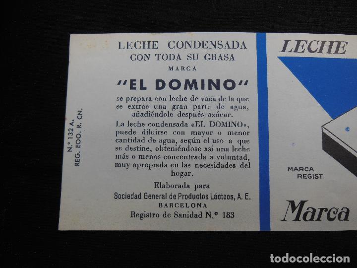 Etiquetas antiguas: Antigua Etiqueta en Plancha - Leche Condensada , El Domino , años 40 - (Ver Fotos). - Foto 3 - 195311065