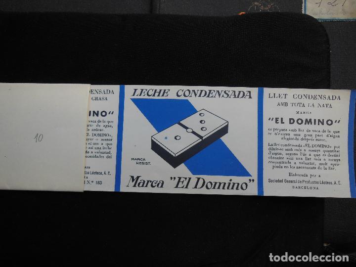 Etiquetas antiguas: Antigua Etiqueta en Plancha - Leche Condensada , El Domino , años 40 - (Ver Fotos). - Foto 4 - 195311065