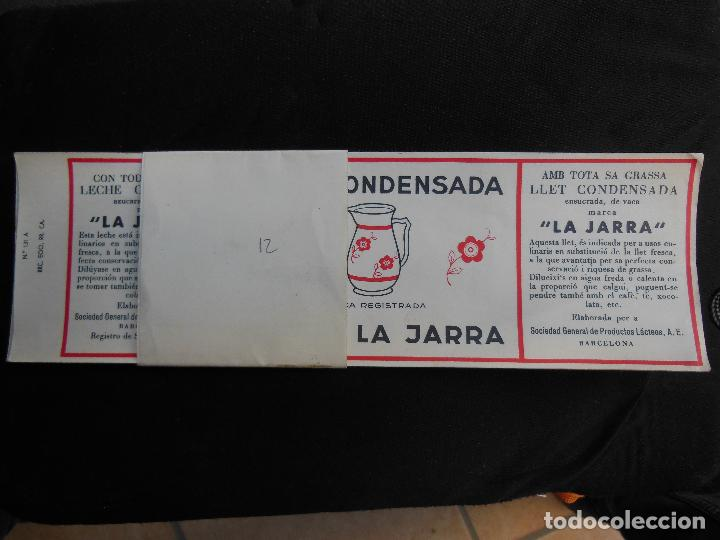 Etiquetas antiguas: Antigua Etiqueta en Plancha - Leche Condensada - La Jarra , años 40 - (Ver Fotos). - Foto 2 - 195311783