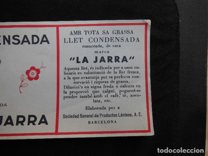 Etiquetas antiguas: Antigua Etiqueta en Plancha - Leche Condensada - La Jarra , años 40 - (Ver Fotos). - Foto 3 - 195311783