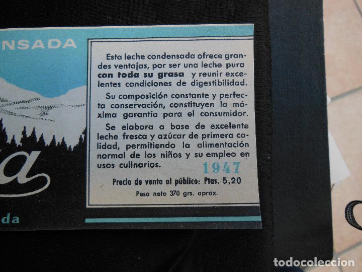 Etiquetas antiguas: Antigua Etiqueta en Plancha - Leche Condensada - Lacta , años 40 - (Ver Fotos). - Foto 2 - 195311955