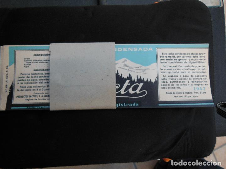 Etiquetas antiguas: Antigua Etiqueta en Plancha - Leche Condensada - Lacta , años 40 - (Ver Fotos). - Foto 4 - 195311955