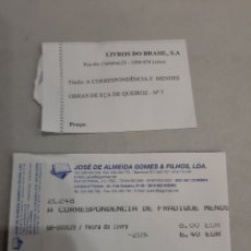 Etiquetas antiguas: ETIQUETAS LIBROS LISBOA LIBROS DO BRASIL JOSÉ ALMEIDA. Lote 195459153