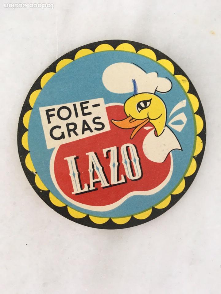 ETIQUETA FOIE GRAS LAZO (Coleccionismo - Etiquetas)