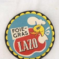 Etiquetas antiguas: ETIQUETA FOIE GRAS LAZO. Lote 196749047