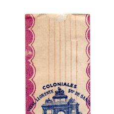 Etiquetas antiguas: MADRID.- EMBASE. BOLSA. COLONIALES VILLA LLORENTE. S. DE SANCHEZ. GALLETAS FINAS Y CARAMELOS.. Lote 197333066